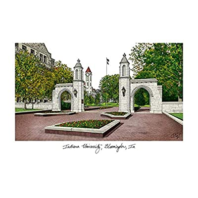 Campus Images Indiana University, Bloomington Campus Images Lithograph Print