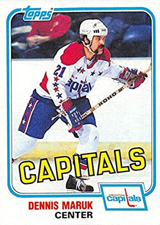 1981-82 Topps Hockey Card  E120 Dennis Maruk Washington Capitals Officially  Licensed Trading Card faf8a9e34