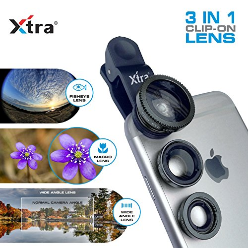 XTRA 3 in 1 Clip-On 180° Fisheye Lens - Lgg2 Tablet Cases