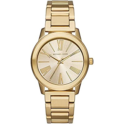 Michael Kors Womens Hartman Goldtone 3 Hand Watch