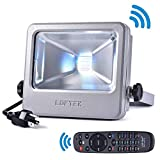 [Time Limited Deals]LOFTEK Nova S RGB LED Flood Light, 50W Outdoor Color Changing Floodlight with US 3-Plug, IP66 Waterproof Dimmable Wall Washer Light, Stage Lighting, Silver