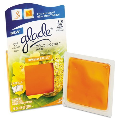 (Glade Decor Scents Refill, Hawaiian Breeze - 12 packs of two air freshener refills.)