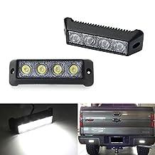 iJDMTOY Xenon White 20W High Power Mini LED Light Bar Backup/Reverse or Driving Lights For Truck Jeep Off-Road ATV 4WD 4x4, Spot Light Beam Pattern