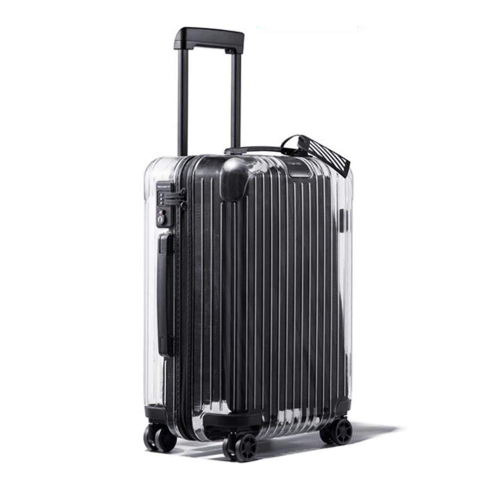 Men and women transparent suitcase pure PC fashion boarding luggage universal wheel trolley case