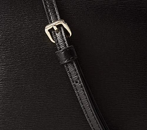 DKNY Sac à bandoulière modèle Bryant en cuir noir