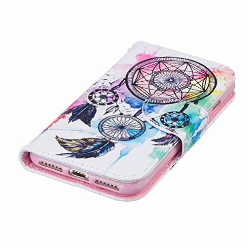 Custodia Apple iPhone 7 Plus Cover Case, Ougger Portafoglio PU Pelle Magnetico Stand Morbido Silicone Flip Bumper Protettivo Gomma Shell Borsa Custodie con Slot per Schede, Design 4