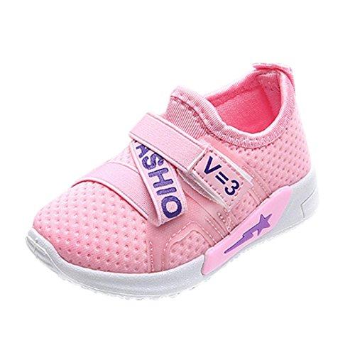 Hunpta Baby Mädchen Jungen Casual Sneakers Sportschuhe Outdoor Laufschuhe Rosa