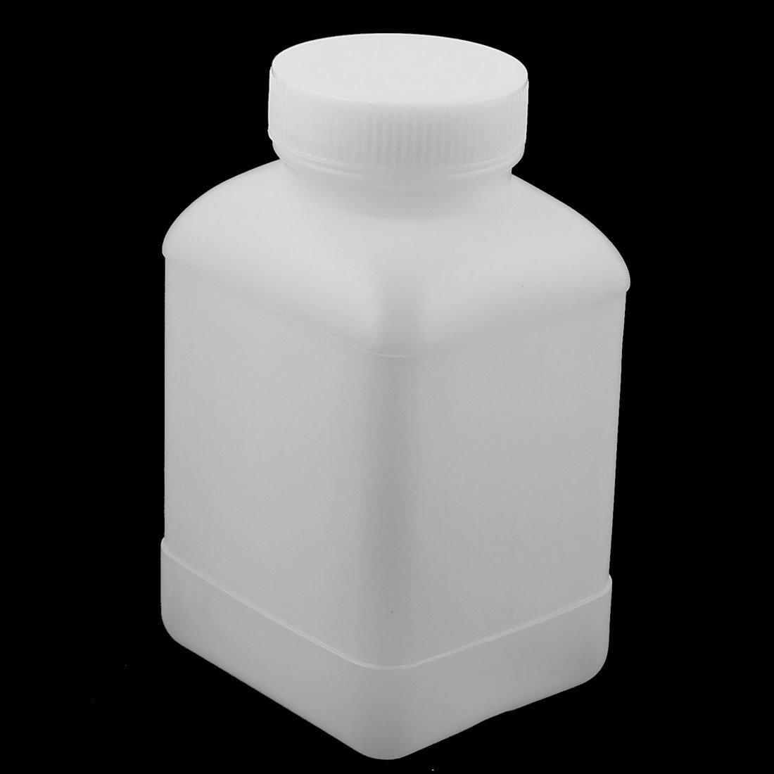 sourcingmap 5pz 0,5L quadrata in plastica a bocca larga campione chimico bottiglia reagente ispessimento