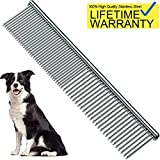 "Pet Steel Comb, Pet Grooming Tool for Dog 7 1/2"""