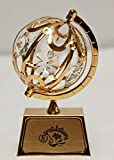 """Congratulations"" 24k Gold Plated Spinning Globe"