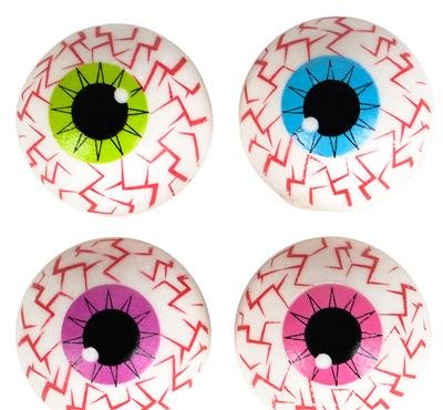 1'' EYEBALL SHAPED ERASERS, Case of 24 by DollarItemDirect