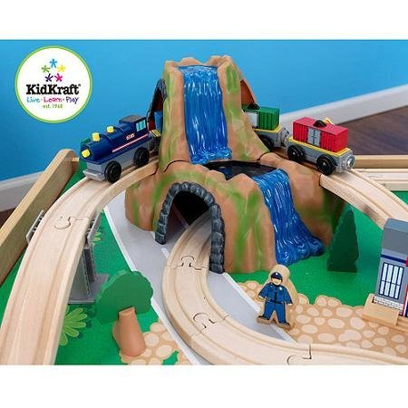 kidkraft-wooden-train-table-and-120-piece-waterfall-mountain-train-set-with-3-bins