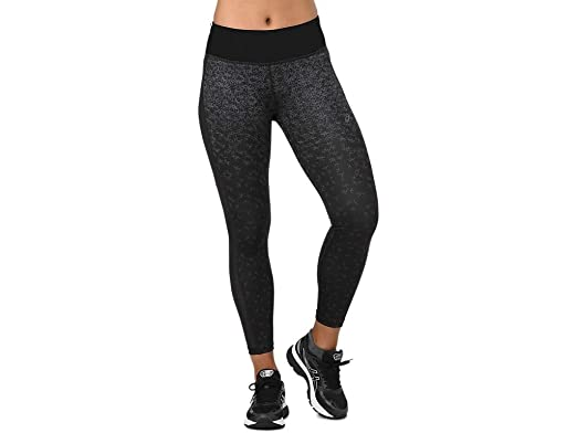 68a98764e8 ASICS Women's Crop Tight Print Running Clothes at Amazon Women's ...