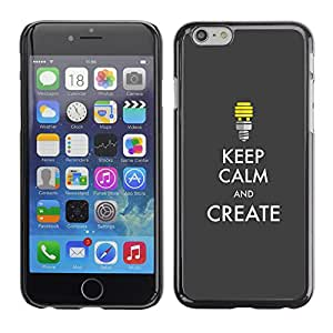 Carcasa Funda Case // V0000629 Keep Calm And Create Poster // Apple Iphone 6 PLUS 5.5