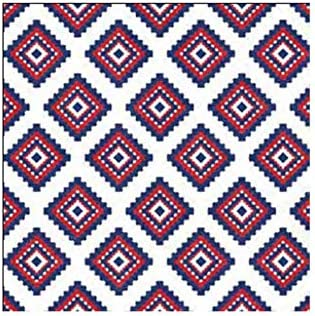 Evergreen 40ct 3ply Cocktail Napkins,Red Blue White Prints