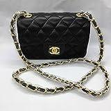 Fashion Classic cf Ling Check Black Gold Black Silver Mini Chanel Messenger...
