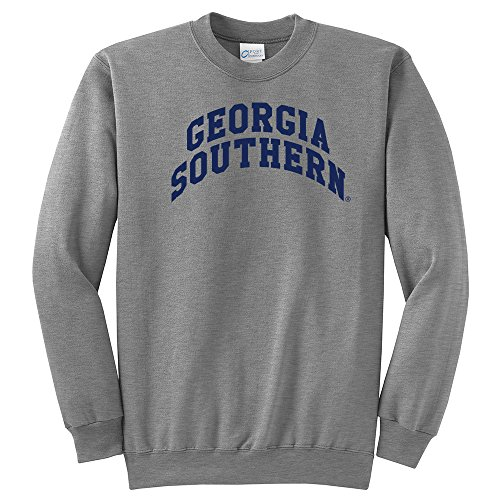- Campus Merchandise NCAA Geogia Southern Arch Classic Crewneck Sweatshirt, Light Heather Grey, Medium