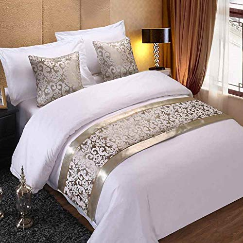 Twelve Sliver Floral Bed Runner Throw Bedding Bedspreads Bed Cover Towel for Home Hotel Decorations 2pcs Pillowcase (Bed Pillows And Scarves Matching)