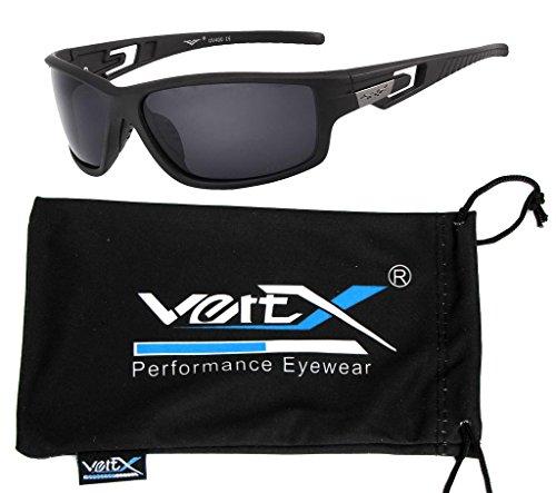 nbsp;des VertX lunettes nbsp;en noir plein de nbsp;soleil Cadre air nbsp;polarisés nbsp;Sport fumée mat Lentille d'exécution cours nbsp;en nbsp;cyclisme nbsp;masculine E8xgwqrtE