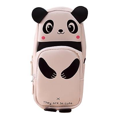 "Boîte à crayons Panda Cartoon Crayon Sac Creative Creative papeterie 190X90X60MM/7.48X3.54X2.36""noir et blanc 1PCS"