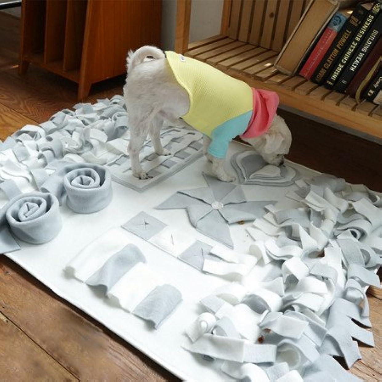 ネックレット。習慣TY PET ペットおまちゃ 犬 ノーズワーク 分離不安訓練毛布 餌マット 運動不足に 犬遊び用 (S70*70cm)