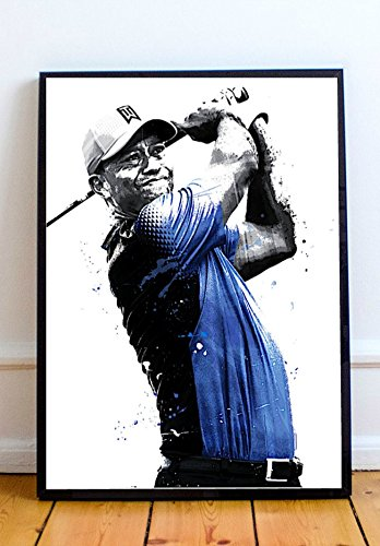 Tiger Woods Limited Poster Artwork - Professional Wall Art Merchandise (More Sizes Available) ()
