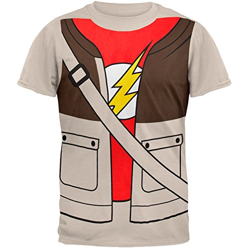 [Big Bang Theory - Mens Sheldon Costume T-shirt Small Tan] (The Music Man Costumes For Sale)