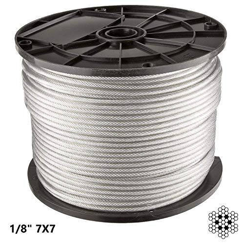 (300 ft  1/8 inch Stainless Steel Aircraft Wire Rope   7x7 Deck Cable Railing Cable   300 feet   7X7 T316 Marine Grade)