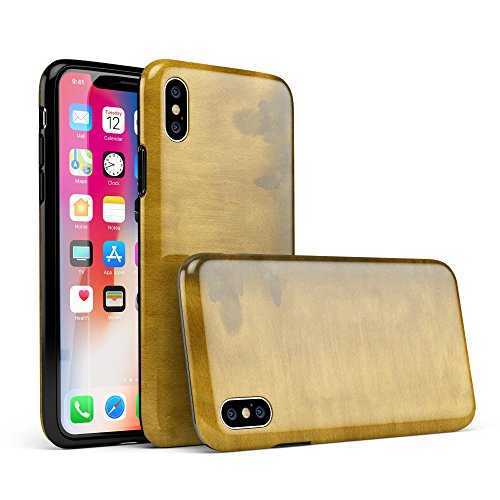 Golden Weeping Willow Over City iPhone X Swappable Tough Two-Piece Hybrid Case - Matte Shell/White (Matte Willow)