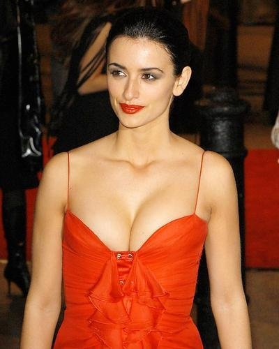 5afe3680c929b Penelope Cruz Huge Cleavage in Sexy Red Dress 8x10 HD Aluminum Wall ...
