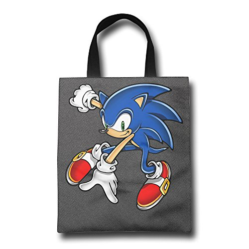 Custom Sonic The Hedgehog Shopping Tote Bag Polyester Fiber (polyester) 100%