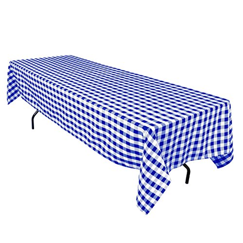 60 x 126 Inch Rectangular Checkered Tablecloths