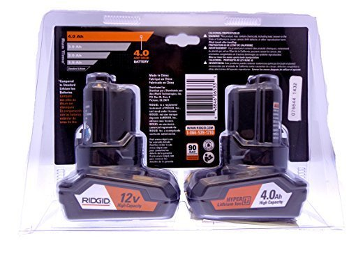 Ridgid 12-Volt 4.0 Ah Hyper Lithium-Ion Battery (2-Pack) by Ridgid