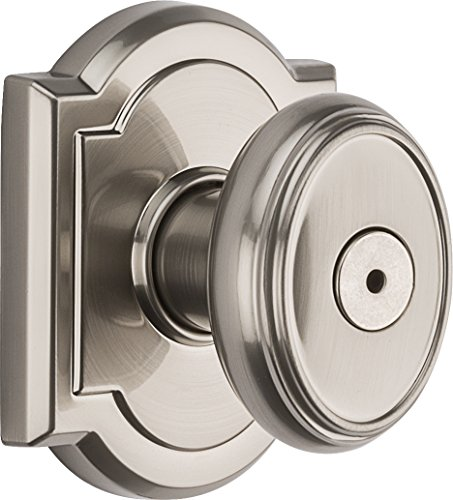 Baldwin Prestige Carnaby Bed/Bath Knob in Satin (Baldwin Door)