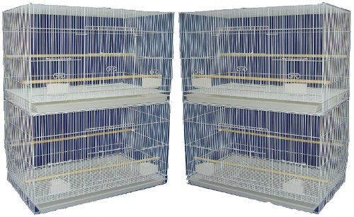 YML Medium Breeding Cages, Lot of 4, White, My Pet Supplies