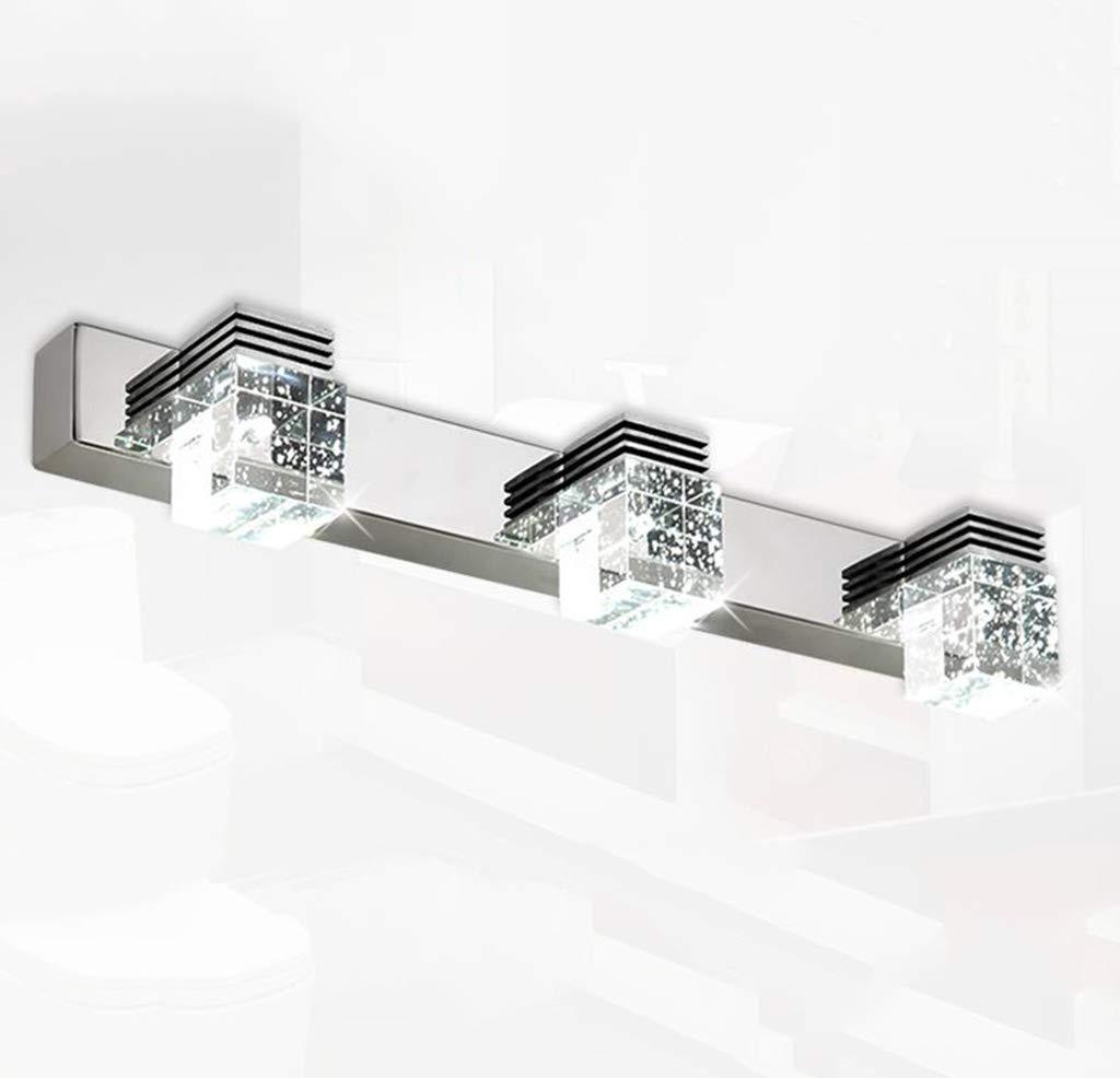 Weißes Licht-46cm 33w Led badezimmerlampe Spiegel Frontleuchte LED Bubble Crystal Edelstahl Badezimmer Wandleuchte (Farbe   Weißszlig;es Licht-46CM 3  3W LED)