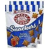 Three Bakers Gluten Free Snackers, Honey Graham 4.5 oz- 2 Pack