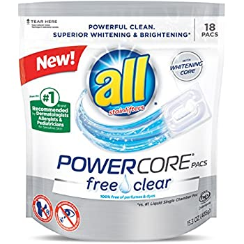 Amazon Com All Mighty Pacs Laundry Detergent Free Clear