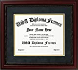 Executive Cherry Rope Diploma Frame (fits 8.5x11 or 11 x 14 documents) (11'' x 14'')
