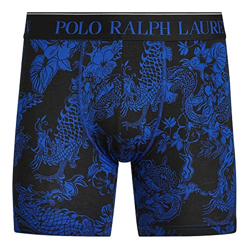 Polo Ralph Lauren Men`s Stretch Pouch Boxer Brief 1 Pair (Rugby Royal Dragon Print, Medium) ()