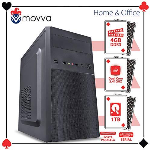 COMPUTADOR LITE INTEL DUAL CORE J1800 2.41GHZ MEM. 4GB HD 1TB 1X PORTA PARALELA 1X PORTA SERIAL FONTE 200W LINUX - MOVVA