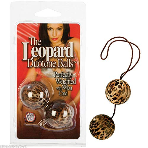 (Leopard Duo-Tone Weighted Ben Wa Balls Tight Vaginal Kegel PC Excercise Enhancer)