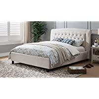 Milton Greens Stars Desiree Platform Bed, Queen Size, Beige
