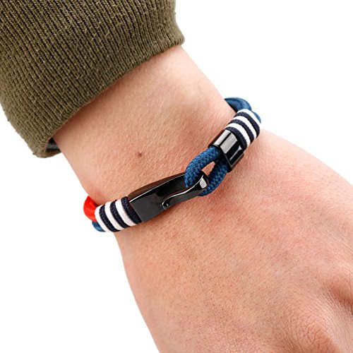 MEITS Nautical Rope Bracelet With Stainless Steel Anchor and Colorful Rope-Anchor Bracelet-Unisex Bracelet-Sailor Bracelet - Great Jewelry Gift Idea for Men & Women (20.0) Photo #6