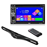 Premium Pyle 6.5-Inch Double Din Car Stereo with Bluetooth Receiver Headunit, Reverse Backup