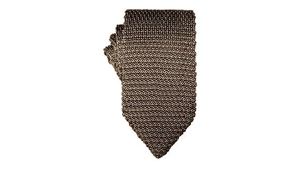 Corbata estrecha de punto marrón | 5 años de garantía | Regalos ...