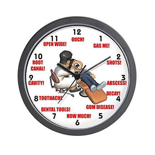 CafePress – Dentist – Unique Decorative 10″ Wall Clock For Sale