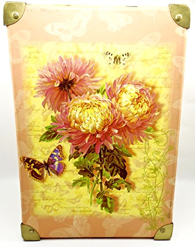 Cottage Garden Storage Trunk,Butterflies,Flowers,Poetry,Brass Handles from Tina Higgins