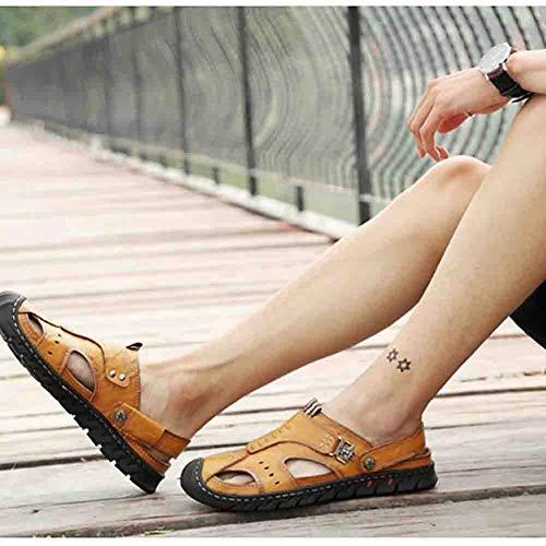 Da Pelle Uomo Brown Sandals Trekking Da Slipper Casual 38 Baotou Da Sconosciuto Calzature Per In Spiaggia 60xqXvxn