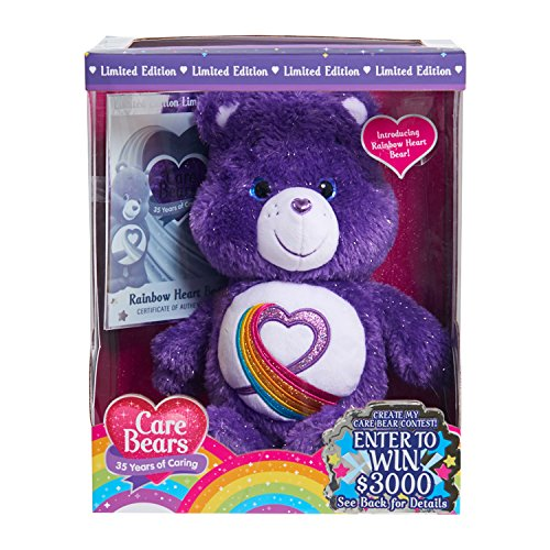 Just Play Care Bears Rainbow Heart 35th Anniversary (Heart Care Bear Plush)